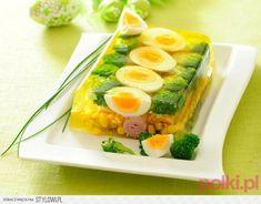 Galaretka warzywno-jajeczna • 1 litr bulionu drobiowego…