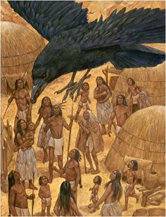 Native American Artwork of Richard Hook. Native American Artwork, Native American Indians, Native Americans, Indigenous Tribes, Indigenous Knowledge, Raven Art, Crows Ravens, American Spirit, Aboriginal Art