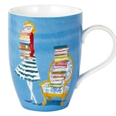 Sujean Rim Bespectacled Blue Mug, 12 oz. Decoupage, Book Lovers Gifts, Nerd Gifts, Book Nooks, I Love Books, Book Nerd, Book Quotes, Reading Quotes, Home Gifts