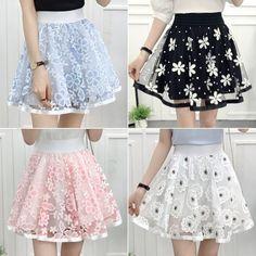 "Sweet flower tall waist tutu skirt SE10228""Coupon code ""Fatma""for 10% off"" Invite"