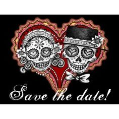 dia de los muertos save the date card