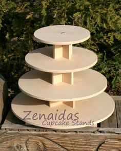 Cupcake Stand Round 5 Tier With Threaded Rod MDF Wood Diy Project Cupcake Tower…