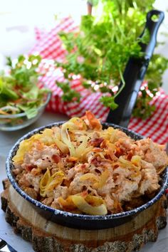 Somogyi galuska recept Portobello, Graham, Quiche, Macaroni And Cheese, Cabbage, Pizza, Dishes, Baking, Vegetables