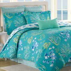 Beachcomber Turquoise Ocean 8 pc Comforter Bed Set