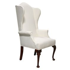 White Upholstered Chairs Best Bean Bag Chair For Gaming 96 Images Overstuffed Leon Provincial Wing Back Wingback With Cabriole Legs