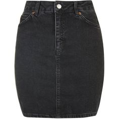 TopShop Moto High-Waisted Mini Skirt ($41) ❤ liked on Polyvore featuring skirts, mini skirts, washed black, short mini skirts, high rise skirts, high-waist skirt, topshop and a line skirt