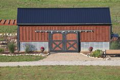 """Old Farm Barns   Our new """"old"""" barn - built from two old barns, one of which was my Dad ..."""