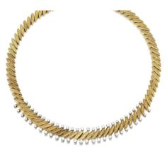 GOLD AND DIAMOND NECKLACE, VAN CLEEF & ARPELS, 1950s