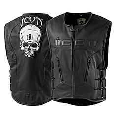 Regulator Skull Leather Motorcycle Vest