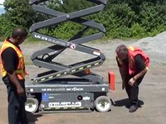 Aerial Lift Operator Familiarization Training Part 3 (Scissor Lift) forklift training www. Training Videos, Health And Safety, Scissors, Fall, Autumn, Fall Season, Bicycle Kick