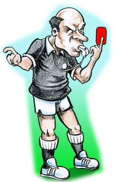Football Referee Cartoon Football referee cartoon. Free cartoon of a football soccer referee for non-commercial use by NGOs, colleges and students. Football referee cartoon  Check more at https://www.caricatures-ireland.com/free-cartoons/football-referee-cartoon/