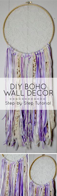 DIY Boho Wall Decor for Your Home: Dream Catcher Step-by-Step Tutorial