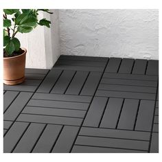 IKEA - RUNNEN, Decking, outdoor, Floor decking makes it easy to refresh your terrace or balcony.The floor decking is weather-resistant and easy to care for since Exterior Gris, Patio Flooring, Ikea Outdoor Flooring, Flooring Tiles, Patio Interior, Best Ikea, Apartment Balconies, Apartments, Home Improvement