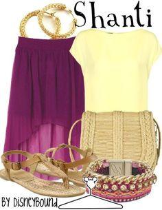 Shanti by Disney Bound. Disney Fashion Outfits. Jungle book