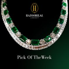 ** The intrinsic beauty of this #Diamond and #Emerald #Necklace ***