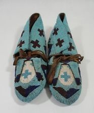 Love antique beaded moccasins - such cool colours ... #jessiewestern.com
