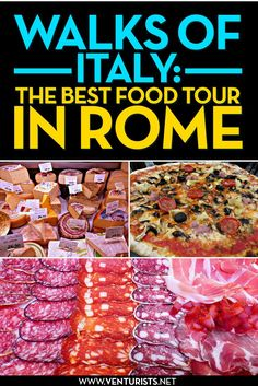 Walks of Italy - the BEST food tour in Rome! Tip: Go on tour at beginning of trip so you know what to order at other places Italian Food List, Italian Recipes, Italian Dishes, Italian Desserts, Italy Travel Tips, Rome Travel, Travel Destinations, Travel List, Travel Europe