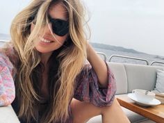 ELLE Osaka, Ibiza, Sunglasses Women, Kimono, Japan, Long Hair Styles, Beauty, Fashion, Moda
