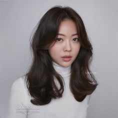 Medium Length Wavy Hair, Short Hair With Bangs, Haircuts For Long Hair, Long Layered Hair, Medium Hair Cuts, Long Hair Cuts, Medium Hair Styles, Korean Medium Hair, Korean Long Hair