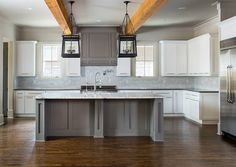 White Kitchen Grey Island white dark grey kitchen design with the island kitchen wooden