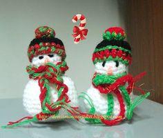 DE MIS MANOS TEJIDOS Y MAS...: Muñeco de nieve a crochet