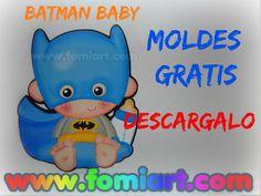 Moldes Gratis Baby Batman | Fomiart