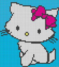 Kitty perler bead pattern