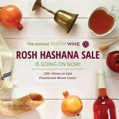 On sale now in honor of Rosh Hashanah! Shop wines and special mixed cases. http://www.kosherwine.com/rosh-hashana