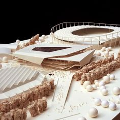 Architectural Model - Multifunctional Sports and Event Centre - Behnisch Architekten
