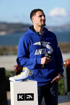 http://www.heysport.biz/index.html Klay Thompson introducing his Anta KT1 sneaker. (Courtesy of Victor Sun)