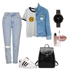 """""""Modern 90's"""" by minidinorawrrx on Polyvore featuring adidas, Topshop, Chicnova Fashion, I Love Ugly and modern"""