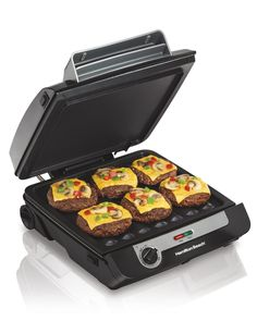 Hamilton Beach 3-in-1 MultiGrill Indoor Grill, Griddle Bacon Cooker (25600) -- This is an Amazon Affiliate link. Continue to the product at the image link.