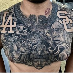 tattoos for men tattoos, chest piece tattoos, aztec tattoo. Chicano Tattoos, Dope Tattoos, Badass Tattoos, Body Art Tattoos, Hand Tattoos, Tattoos For Guys, Eagle Tattoos, Irezumi Tattoos, Chest Piece Tattoos