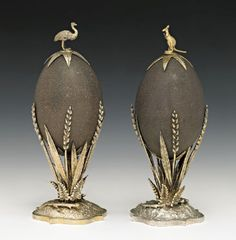 J Holt. Egg Crafts, Easter Crafts, Emu Egg, Faberge Eier, Faberge Jewelry, Different Forms Of Art, Presents For Him, Egg Art, Clay Flowers