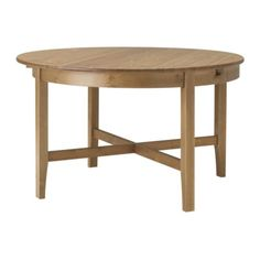 LEKSVIK Dining table IKEA Extendable dining table with 1 extra leaf seats 4-6;