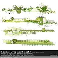 Readymade Layers: Green Borders No. 01
