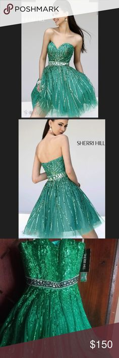 """NWT Sherri Hill """"Dare To Dream"""" Dress Dare to be different in Sherri Hill 8522!!! With a sweetheart neckline and empire waist, this unique dress highlights all the right areas! The embellishment pattern of 8522 is fabulous and sassy. Available in a few color options, you will fall in love with this dress!! Sherri Hill Dresses Prom"""