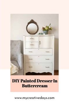This DIY Painted Dresser is a great example of how you can save money decorating your home by flipping furniture to get the look for less. Recycled Furniture, Furniture Projects, Furniture Makeover, Painted Furniture, Diy Furniture, Farmhouse Furniture, Remove Paint From Glass, Decorating Your Home, Diy Home Decor