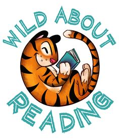 Wild About Reading Logo by Sarah Harkey  #book #reading #logo