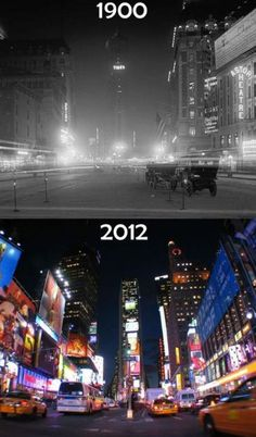 times square Might not seem like it, but that was an incredible amount of light for 1900, so the awe affect is the same, wouldn't you say?