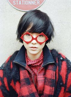 Manteau carreaux rouges et noirs