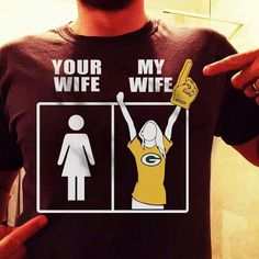 When you find a woman that loves sports as much as you do, you should marry her right away!