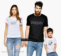 Discover matching couples outfits by FAMILYSTA. When in love, couples often try to manifest their association through creative expressions like matching tees. Check our women's t-shirt SALT and the matching couple t-shirts options. Cute Couple Shirts, Matching Family T Shirts, Family Tees, Dad To Be Shirts, Kids Shirts, Family Tshirt Ideas, Sibling Shirts, Paar Style, Couple With Baby
