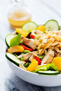 , and a quick sesame ginger dressing! Oh this salad…. this salad ...