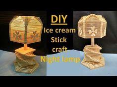 How to make ice cream stick lamp || ice cream stick craft || popsicle sticks lamp, - YouTube