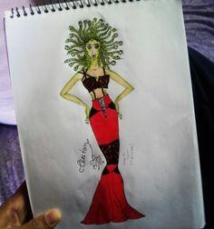 #medusa #moda #look #vestido #calda#de#peixe #top #cropped