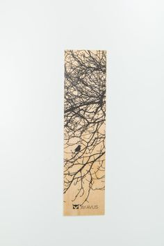 Wood Bookmark Christmas Gift Idea Book Lover Raven Crow by AYAVUS