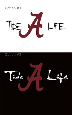 Tide Life University Alabama A Decal Crimson by WilliamsVinylArt, $8.50