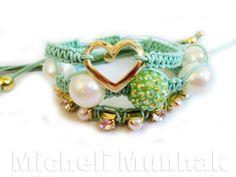 Kit Pulseiras Verde (Tom Pastel)  http://www.michelimunhak.com.br