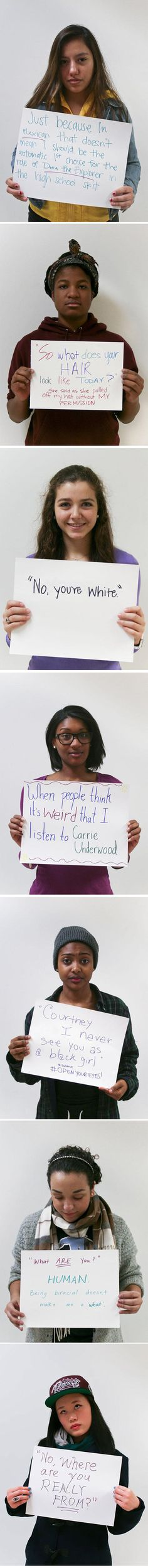 Young people being discriminated...   Not All people know the differences or how a person truly feels when asked a question or comment said, we need to inform each other. There are times I have asked one of my best friends who is African American questions that she laughs at but I ask because I don't know! Then times I have asked transgender person questions because before meeting that person I had never even that I know of met a transgender and I wanted to learn. We need educate all! <3=<3